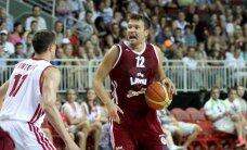 Latvijas basketbolisti pārbaudes spēlē gūst pārliecinošu uzvaru pār Krieviju