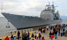 ASV karakuģis saskrienas ar Dienvidkorejas zvejas laivu