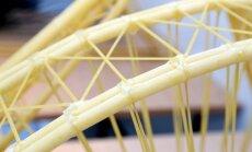 Konkursā aicina skolēnus uzbūvēt torni no makaroniem un līmes
