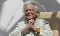 92 gadu vecumā mirusi bijusī ASV pirmā lēdija Barbara Buša