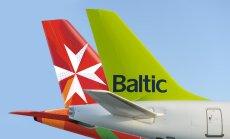 airBaltic начнет совместное использование рейсов с Air Malta