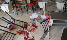 Krievijas ĀM: fotogrāfijas, kurās esot parādīts uzlidojums Sīrijas skolai, ir viltojums