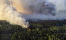 В зоне отчуждения Чернобыльской АЭС возникли пожары