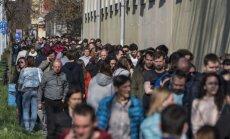 Foto: Parlamenta vēlēšanās Ungārijā rekordliela vēlētāju aktivitāte