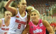Latvijas basketbolistes noslēdzošajā pārbaudes spēlē savā laukumā pieveic Baltkrieviju
