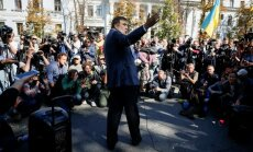 Foto: Saakašvili Kijevā organizē protestus pret korupciju
