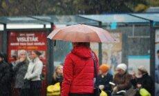 Pirmdien gaidāms neliels lietus