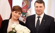 Foto: Operas zvaigzne Marina Rebeka saņēmusi Triju Zvaigžņu ordeni