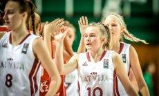 Latvijas U-16 izlases basketbolistes EČ otrajā spēlē sagrauj Serbijas vienaudzes