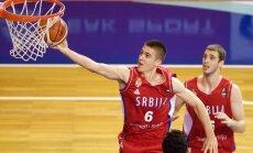 Latvijas U-20 basketbolisti Eiropas čempionātu ievada ar sāpīgu zaudējumu čempionei Serbijai