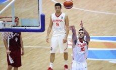 Latvijas U-20 basketbolisti Eiropas čempionāta ceturtdaļfinālā zaudē spēcīgajai Spānijai