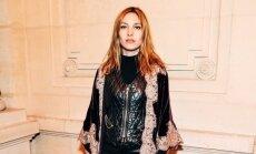 Slavena franču dziedātāja izvēlas latviešu zīmola tērpu