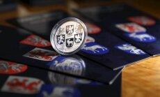 Latvijas Banka izlaiž Latvijas simt gadu jubilejas 'Ģerboņu monētu'