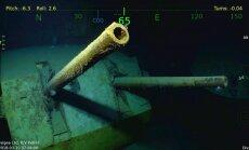 Foto: Miljardieris Alens atradis arī japāņu torpedēto kreiseri 'USS Juneau'