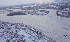 Уровень воды на Даугаве возле Екабпилса немного понизился