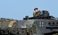 Vācija nav gatava uzņemties NATO Sevišķi ātrās reaģēšanas vienības vadību, ziņo laikraksts