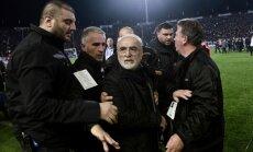 FIFA pēc incidenta ar PAOK īpašnieku var atstādināt Grieķiju no starptautiskiem turnīriem