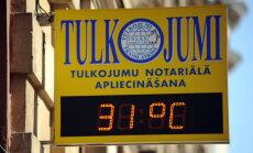 Температура воздуха в Риге впервые в этом году превысила +30 градусов