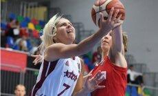 Latvijas sieviešu basketbola izlase Eiropas čempionātu sāk ar zaudējumu Krievijai