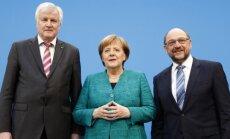 Vācijas konservatīvie koalīcijas sarunās piekāpušies sociāldemokrātiem