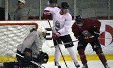 Latvijas hokeja izlase sagrauj Franciju Bledas turnīra noslēdzošajā spēlē