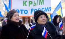 Krimas okupācijas vara tatāru deportāciju piemiņas dienā aicina svinēt 'prieka dienu'