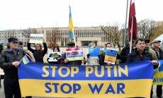 ФОТО: В Риге прошла акция протеста против агрессии России на Украине
