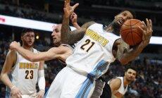 Bertāns atkal spēlē tikai pēdējās minūtēs; 'Spurs' droši uzvar arī 'Nuggets'