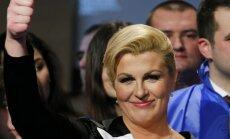 Horvātijā par prezidenti pirmo reizi kļūs sieviete
