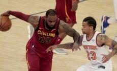 Lebrons Džeimss spēlē pret Ņujorkas 'Knicks' labo vēl vienu NBA rekordu