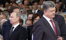 Porošenko nākamnedēļ tiksies ar Putinu
