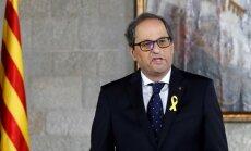 Katalonijas jaunais prezidents iekļauj valdībā ieslodzītos un trimdā dzīvojošos katalāņu līderus
