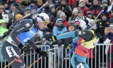 Martin Fourcade, Dominik Windisch Italy.Biathlon World Cup