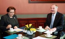 Президент Латвии высоко оценивает работу Страуюмы