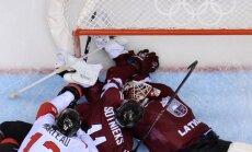 Latvijas hokejisti ar augstu paceltām galvām izstājas no Olimpiādes