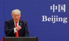 Tramps aicina Ķīnas prezidentu strādāt smagi un rīkoties ātri Ziemeļkorejas jautājumā