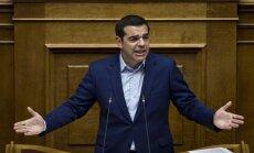 Grieķijas valdība iztur neuzticības balsojumu parlamentā