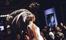 Foto: Modernākie kāzu kleitu dizaini vērienīgajā līgavu modes šovā