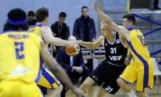 'VEF Rīga' spraigā cīņā uzvar 'Ventspils' komandu un iekļūst LBL finālā