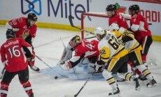 'Penguins' sērijas ceturtajā spēlē uzvar 'Senators' un panāk neizšķirtu Austrumu konferences finālā