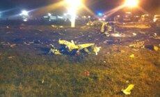 Kazaņā nogāzies un 'pelnos sadedzis' 'Boeing'; gājis bojā Tatarstānas prezidenta dēls(22:47)