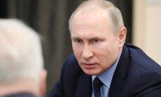 Putins brīdina nemēģināt 'sēt neuzticību' tautā pēc Kemerovas ugunsgrēka
