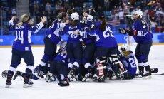 ASV hokejistes pārtrauc Kanādas dominanci olimpiskajās spēlēs un izcīna Phjončhanas zeltu