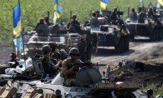 Luhanskas apgabalā armija atkal apšaudīta ar 'Grad' artilēriju