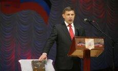 Separātistu līderis Zaharčenko zvēr uzticību DTR