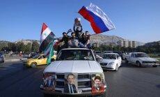 ФОТО: Жители Дамаска вышли на улицы в поддержку Асада