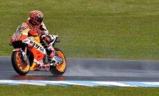 Trīskārtējais 'MotoGP' čempions Markess uzvar Austrālijas 'Grand Prix' izcīņas kvalifikācijā