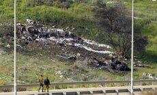 Foto: Sīrija notriekusi Izraēlas iznīcinātāju 'F-16'
