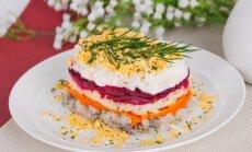 Baltā galdauta svētku rota – salāti latviskās garšās un krāsās