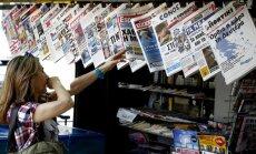 'Delfi' no Atēnām: Grieķu žurnālisti iestājas pret populistu valdību; sabiedrisko mediju apsūdz propagandā